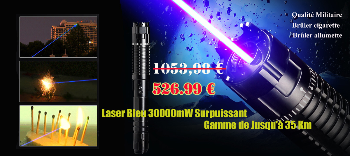 Laser 30000mw Azul Puissant